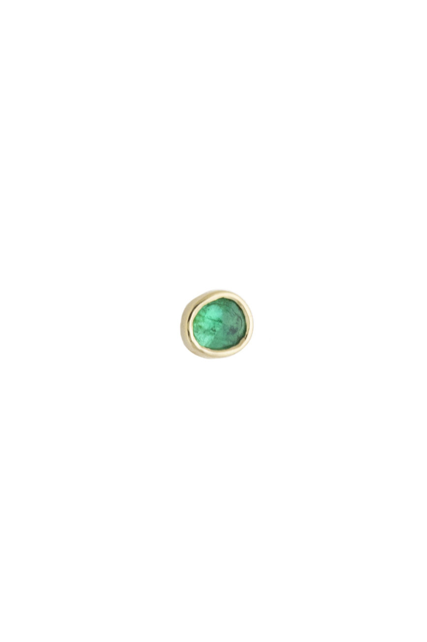 Celine Daoust One of a Kind Single Emerald Stud earring