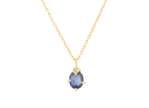 Celine Daoust One of a Kind Sapphire Diamond claw Necklace