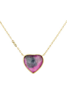 Celine Daoust One of a Kind Tourmaline with small diamond Necklace