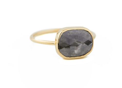 Celine Daoust_Slice of the Universe Faye Grey diamond Ring