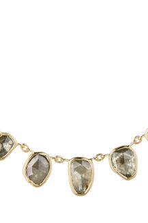 Celine Daoust One of a Kind multi Grey Diamonds and rosecut Diamonds Necklace