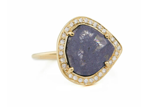 Celine Daouts Slice of the Universe Stella Grey Diamond slice and Diamonds Ring