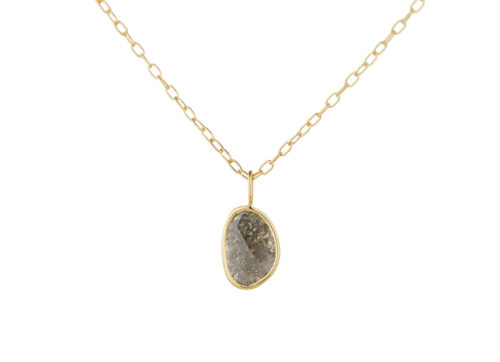 Celine Daoust_Slice of the Universe Grey Diamond Slice Necklace