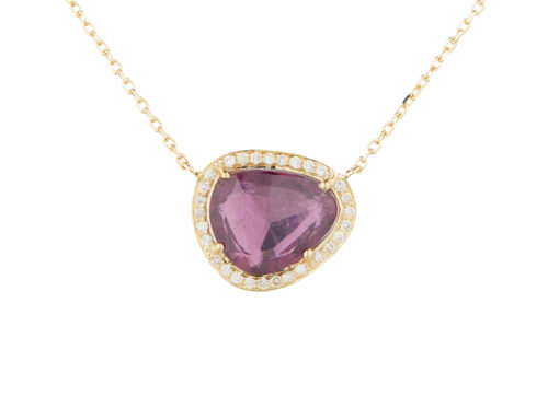 Celine Daoust One of a Kind Stella Tourmaline and Diamond Necklace
