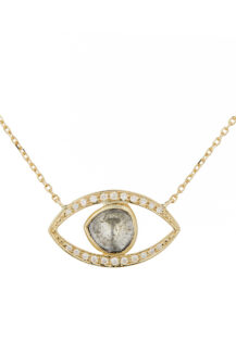 Celine Daoust Protection and Believes Polki Diamond eye necklace