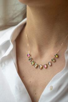 Celine Daoust One of a Kind multi Tourmaline and rose cut Diamonds Necklace