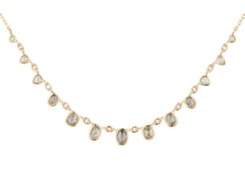 Celine Daoust Slice of the Universe multi Rose cut Grey Diamonds Necklace