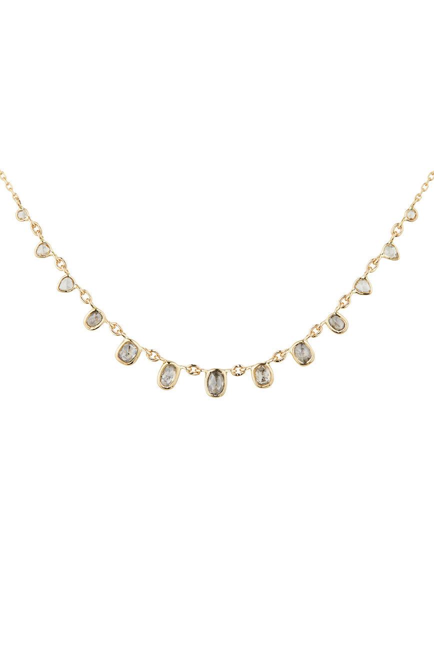 Celine Daoust Slice of the Universe multi Rose cut Grey Diamonds Necklace