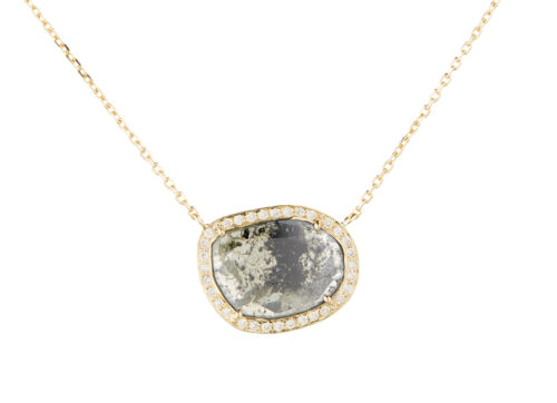 Celine Daoust Slice of the Universe Stella Grey Diamond and Diamonds Necklace
