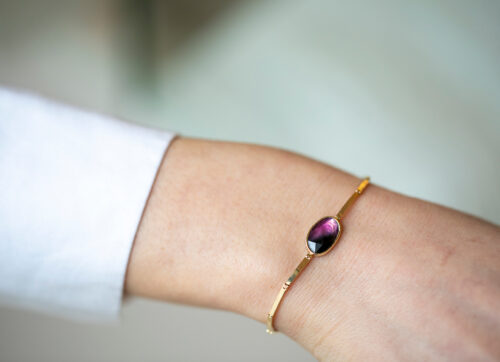 Celine Daoust One of a Kind Tourmaline Articulated Bracelet