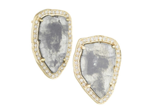 Celine Daoust Slice of the Universe Stella Grey Diamond slice and Diamonds Earring