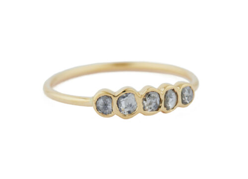 Celine Daoust One of a Kind 5 Grey Diamonds ring