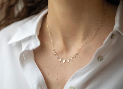 Celine Daoust Slice of the Universe multi Grey Diamonds slices and rose cut Diamonds Necklace