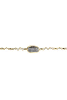 Celine Daoust One of a Kind Grey Diamond and twisted Diamonds Articulated Bracelet