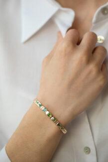 Celine Daoust Totem Tourmaline and diamonds Bangle