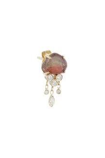 Celine Daoust One of a kind Tourmaline and Diamonds Dangling Single Earring