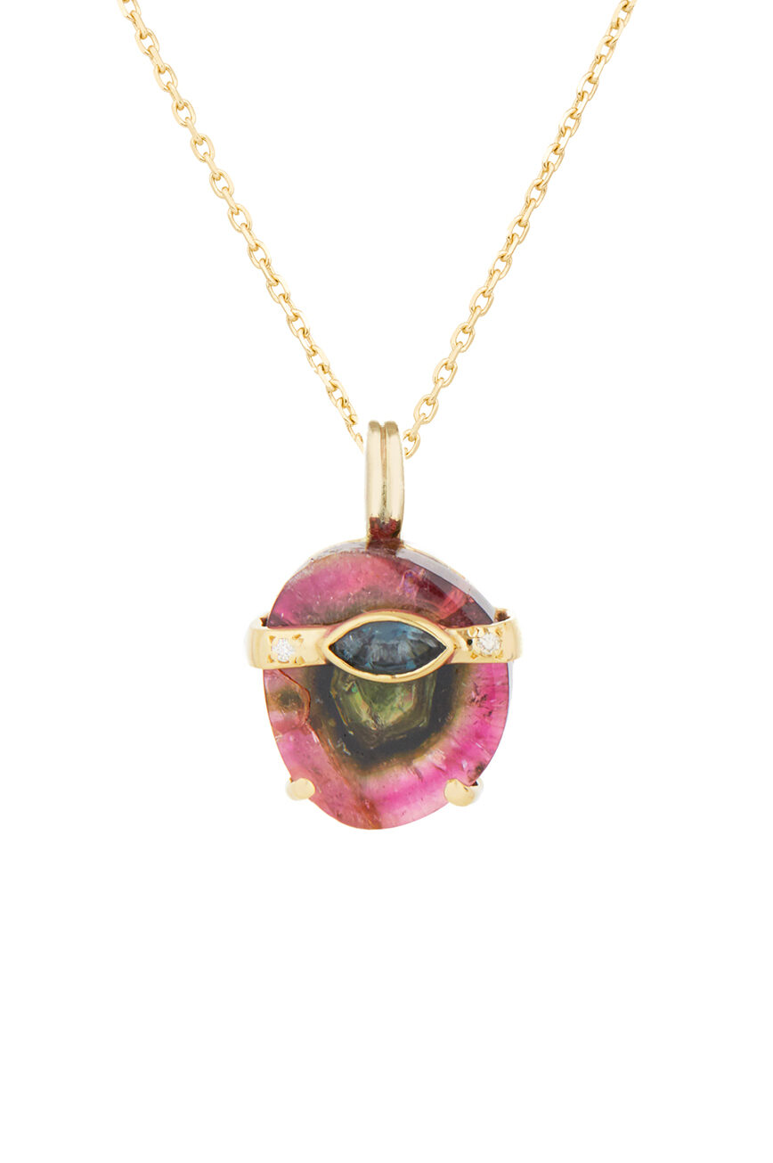 Celine Daoust One of a kind Tourmaline Marquise and Diamonds