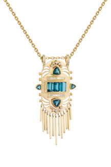 Celine Daoust Guardian Spirit Tourmalines and Diamonds Tiger Totem Necklace