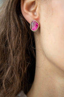 Celine Daoust One of a Kind Stella Tourmaline and Diamonds Earrings