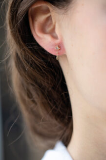 Celine Daoust Moonstone Power Moonstone North Star Single Earring