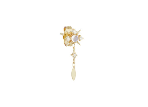Celine Daoust Moonstone Power Moonstone North Star Single Earring