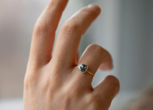Celine Daoust Slice of the Universe Faye Grey diamond Ring