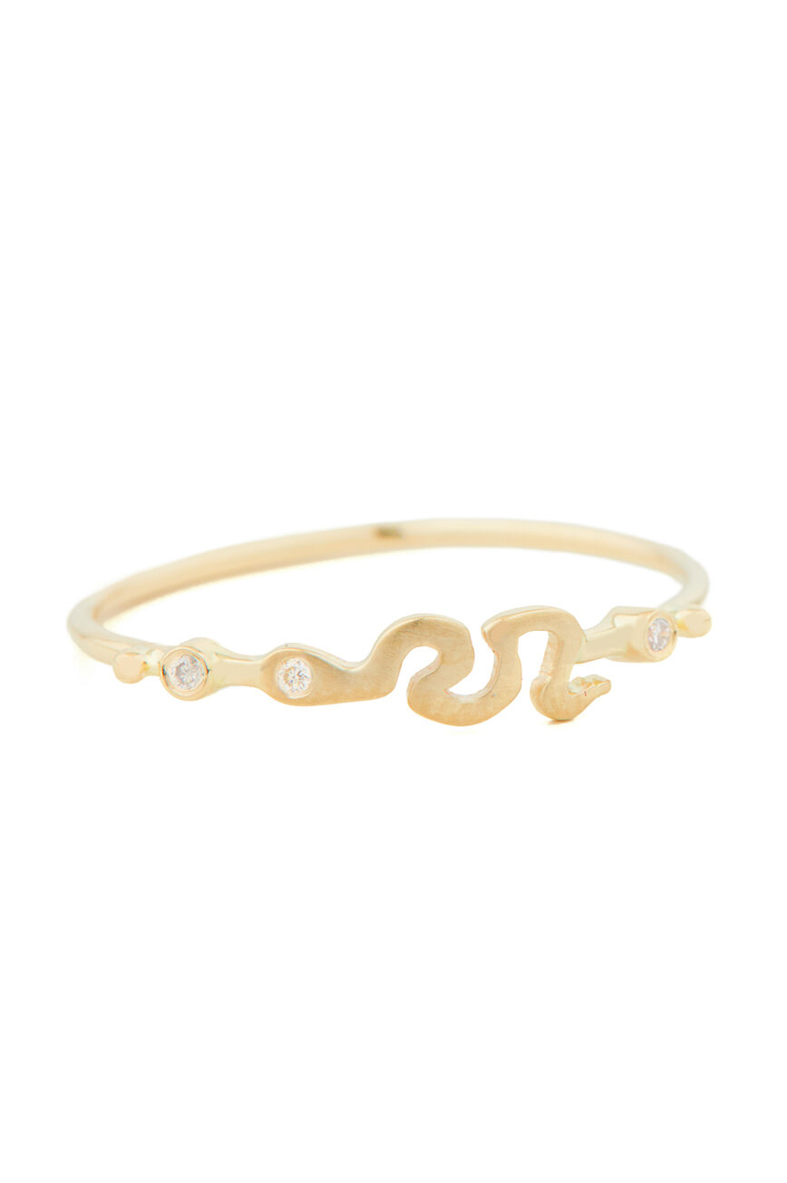 Celine Daoust From the Earth Snake and Diamonds Ring