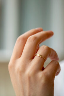Celine Daoust From the Earth Fish and Diamonds Ring