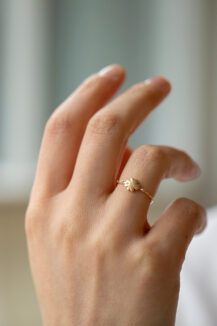 Celine Daoust From the Earth Clover and Diamonds Ring