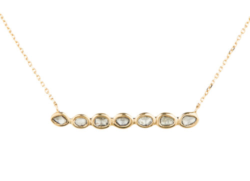 Celine Daoust Slice of the universe 7 polki diamond covered chain necklace