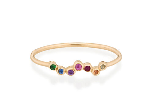 Celine Daoust Rainbow Twisted Rainbow Sapphire Ring