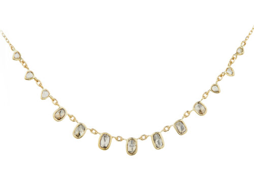 Celine Daoust Slice of the Universe multi Rosecut Grey Diamonds Necklace