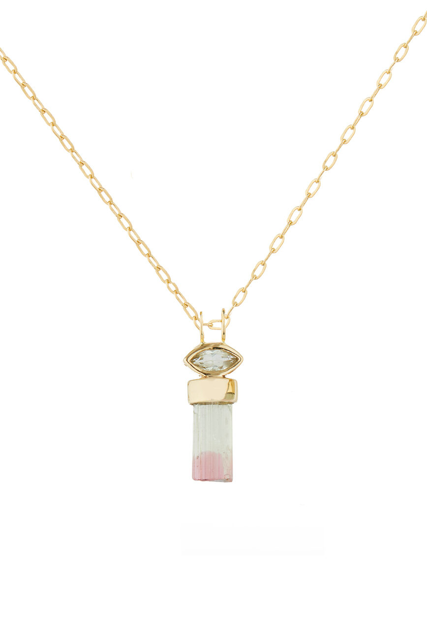 Celine Daoust Protection and Believes Tourmaline pencil & marquise Chain Necklace