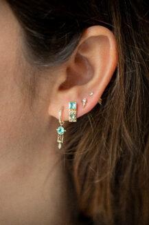 Celine Daoust One of a Kind Tourmaline and diamonds Single Earring