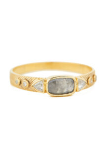 Celine Daoust Slice of the Universe Grey Diamond Ring