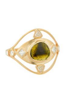 Celine Daoust On of a kind Tourmaline and Diamonds Ring