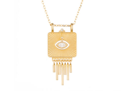 Celine Daoust Guardian Spirit Diamond eye and dangling details necklace