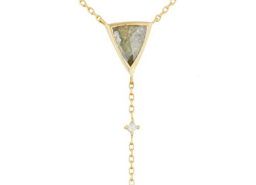 Celine Daoust Slice of the Universe Trillion Grey Diamond with small diamonds Lariat Necklace