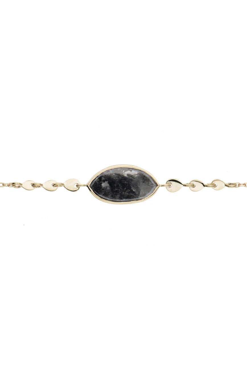 Celine Daoust Slice of the Universe Grey Diamond Chain Bracelet
