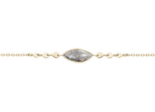 Celine Daoust Slice of the Universe Grey Diamond Chain Bracelet