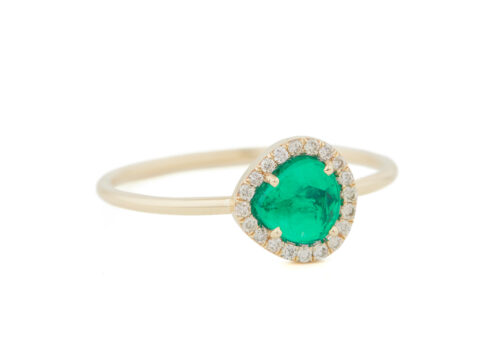 Celine Daoust One of a Kind Stella Emerald and Diamond Ring