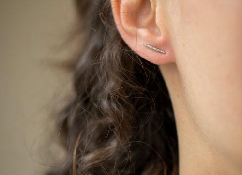 Celine Daoust Rainbow Diamonds large beams Earring set