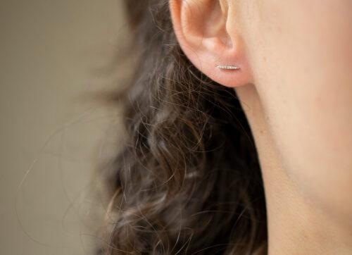 Celine Daoust Rainbow Diamonds small beams Earring set