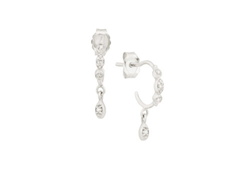 Celine Daoust Protection and Believes Diamond eyes hoop Earrings