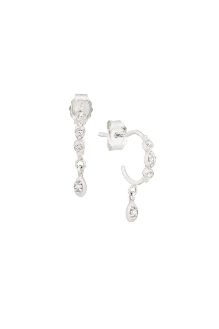 Celine Daoust Protection and Believes Diamond eyes hoop Earrings