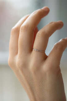 Celine Daoust Protection and believes little eyes diamond ring