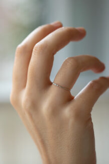 Celine Daoust Protection and believes Tiny diamonds eyes ring