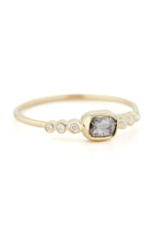 Celine Daoust Wedding bands Grey diamond and tube Diamonds Ring