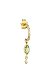 Celine Daoust Protection and Believes Tourmaline and diamonds Hoop Single Earring