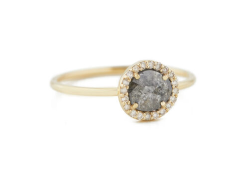 Celine Daoust Slice of the Universe Stella Grey Diamond slice and Diamonds Ring